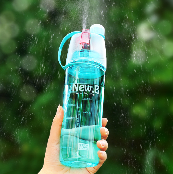 600ML Fashion Design BPA free Plastic Water Bottle with Spray