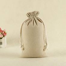 Small Recycled Jute drawstring Pouch For Cake Packaging