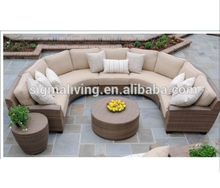 New Arrivals: 2018 Half Moon Sofa Set Outdoor Furniture 6 Pcs royal furniture sofa set