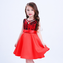 High quality kids baby fancy summer flower cotton dress