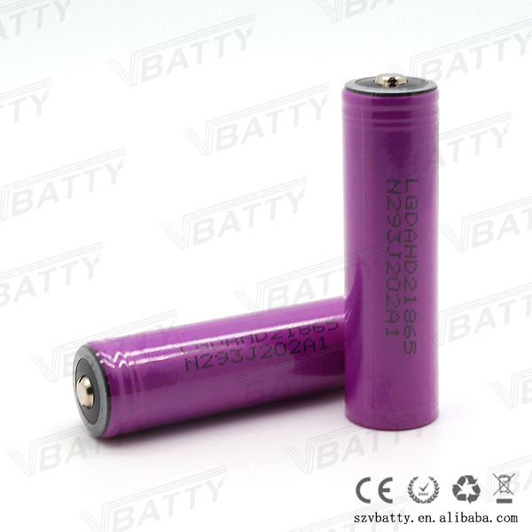 Purple LG HD2 18650 battery 2000mah 20a 3.7v 18650 battery similar to LG HE2 HE4 LG HG2 VTC4 Fit for ecigs