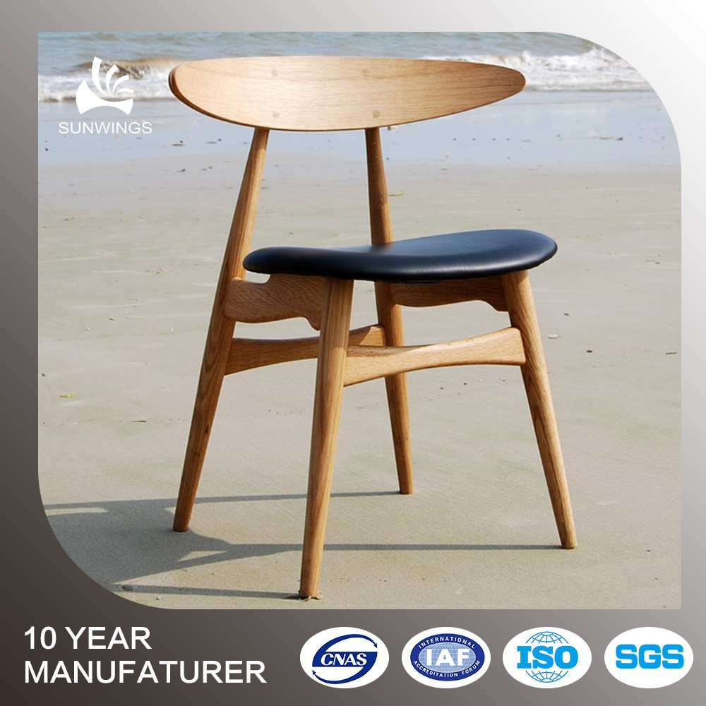 forniture home modern wood leather dining chair for sale