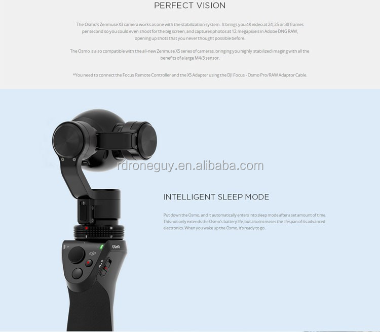 2017 NEW original dji mini selfie osmo 4k hd camera with 3-axis stabilization system