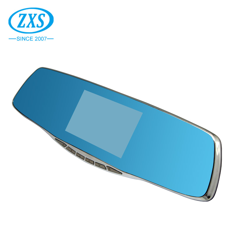 "ZXS-X10 Manufactuer full hd camcorder car rear view mirror 4.3"" display dual camera security camera inside car dash cam dvr car"