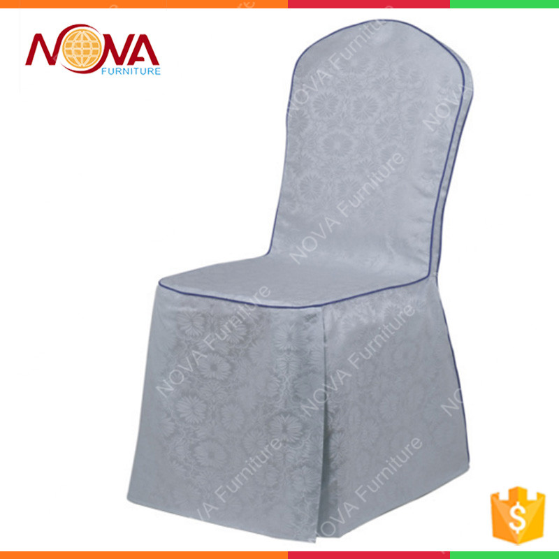 Wholesale commercial restaurant banquet chair used 100% polyester dressing luxury design high end wedding chair covers for sale