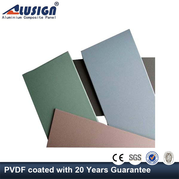 Alusign 3mm composite panel board(acp) acm board recycled plastic wall covering panels