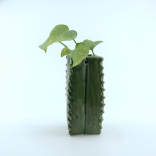 High quality cactus plant long flower pot for wholesale ceramic flower pot