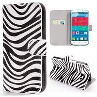 Zebra Stripes Wallet Style Flip Leather Case for Alcatel One Touch POP C9
