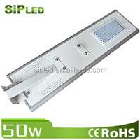 50W All In One Solar LED Street Light For Remote Areas