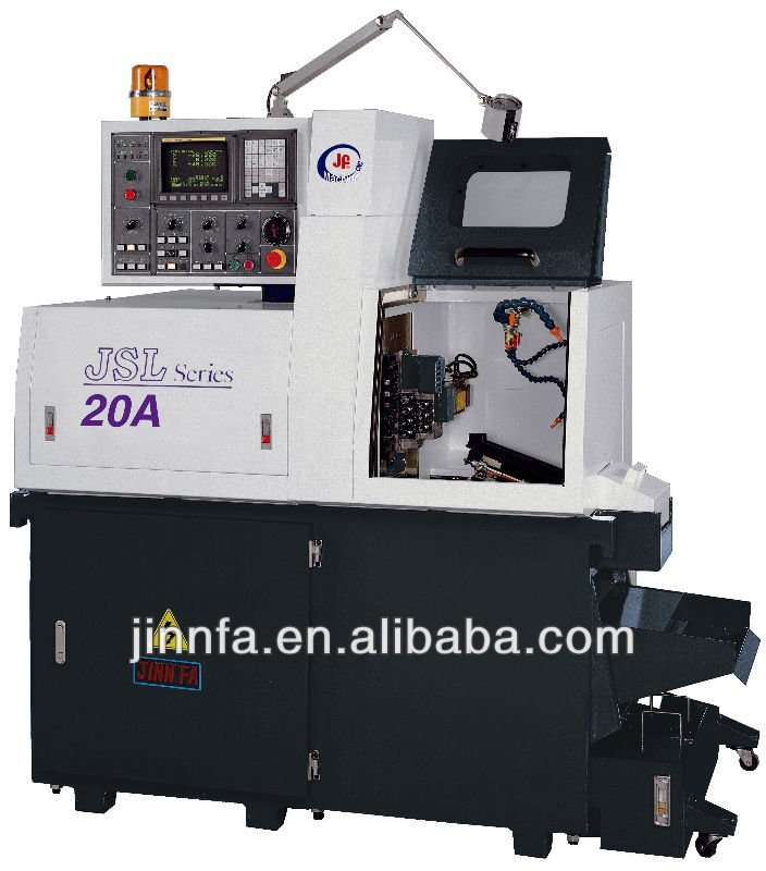JSL -20A swiss type sliding head cnc lathe machin with side drilling tools