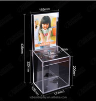China factory custom made church charity donation box