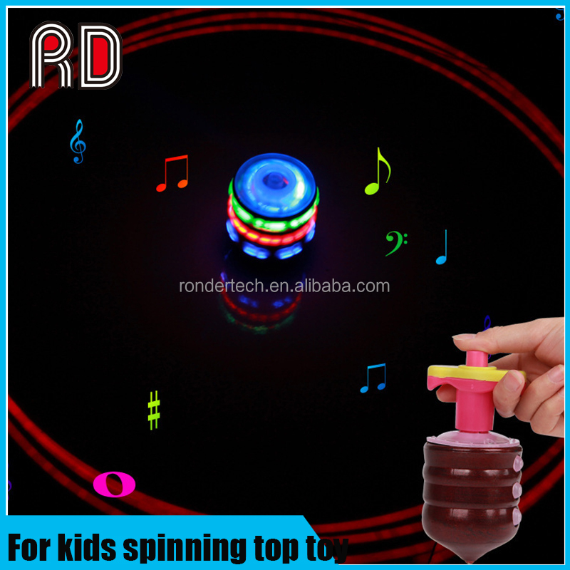 Minions Colourful Light & Music Gyro Peg-Top Spinning Tops Kids Children Toy
