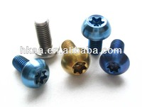 Anodized Titanium torx racing bike & motorcycle bolts,torx bolts, torx security screw