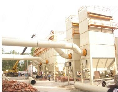 Crusher dust collection or separation system