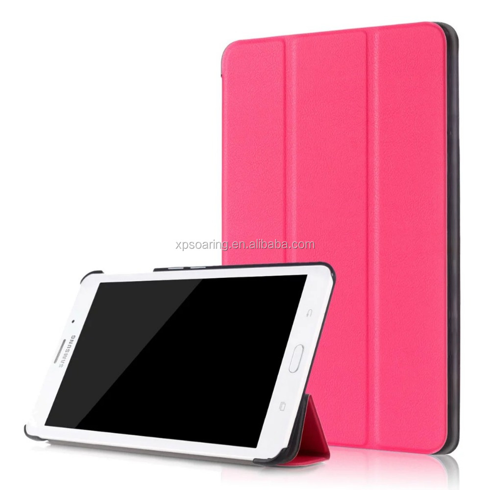 Triple folding PU flip leather case skin cover for Samsung Galaxy Tab J 7.0 T285DY