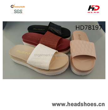 New arrival fashionable thick sole sandals PCU PVC slippers
