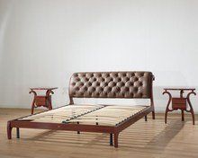 Mordern European style walnut simple latest bent wood double bed designs