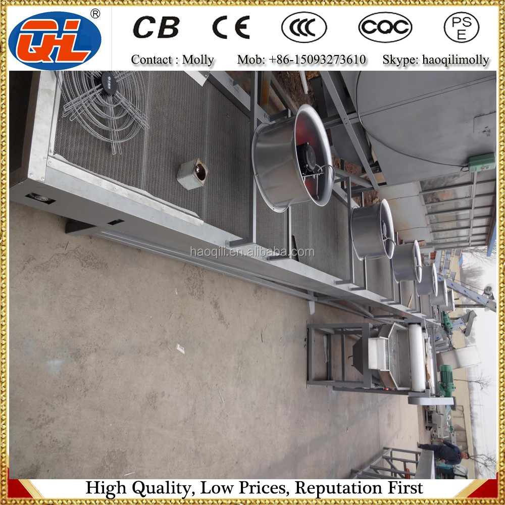 Stainless steel belt coolers