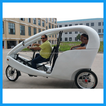 passenger use open body electric tricycle 48V velo taxi