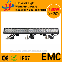 Super bright China wholesale 180w crees led light bar auto offroad led car light led working light bar suv car 4x4