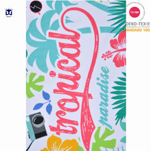 China supplier cheap wholesale custom reactive printing microfiber beach towel