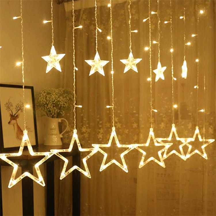 12 stars 138 leds twinkle star - Best Outdoor Lighted Christmas Decorations