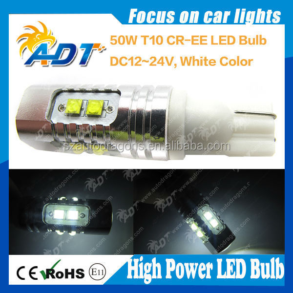 high quality 501 T10 W5W 194 168 2825 Wedge Side Marker License Plate/Interior Bulbs