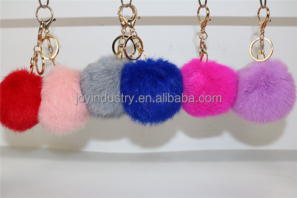 K002 cute furry key chain/funny pink keychain
