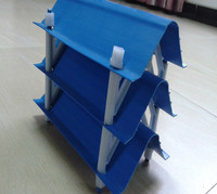 Cross flow PVC drift eliminator for cooling tower