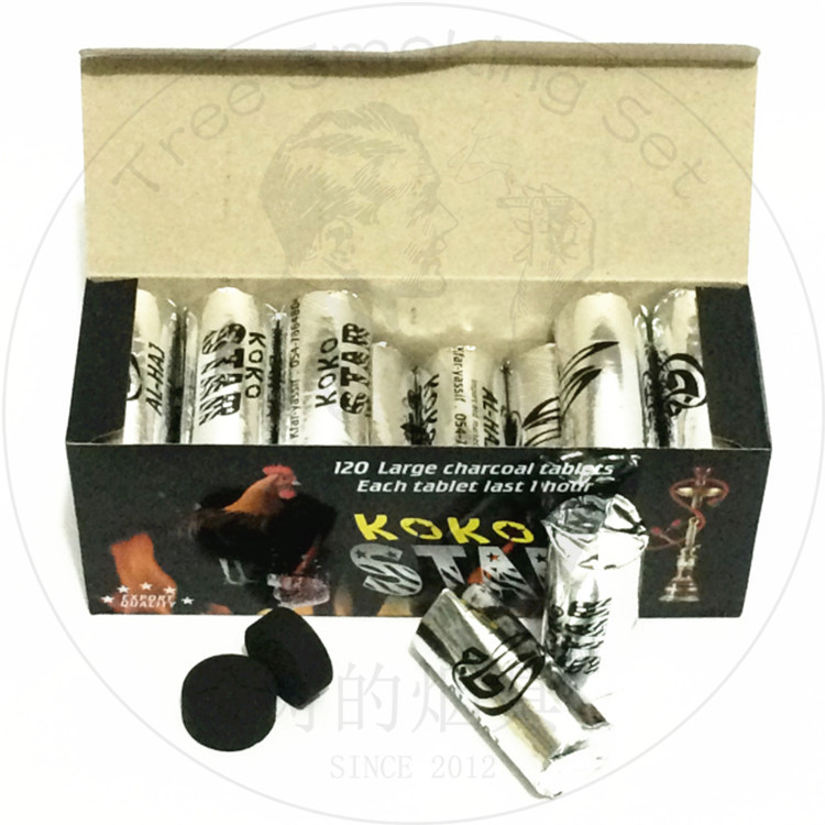 TTAN0014 koko stars combustible charcoal Arabian Shisha charcoal hot Vietnamese Burmese Thai bar hookah fast burning coal