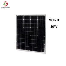 Solar panel manufacturers in china 80W monocrystalline solar cells solar panel