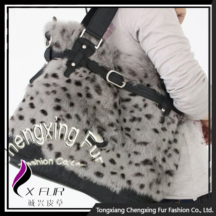 CX-H-33 Genuine Rabbit Fur Hand Bags