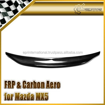 For Mazda MX5 NA MK1 Miata Type 2 Ducktail Carbon Fiber Rear Spoiler