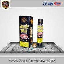 Wholesale factory direct sale fireworks shell 2 inch artillery shell fireworks