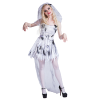 halloween party cosplay fancy dress Zombie corpse bride costume for adult women girls