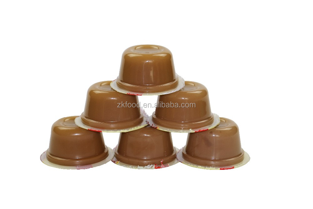brown sugar agar jelly / coffee jelly pudding cup in boxes