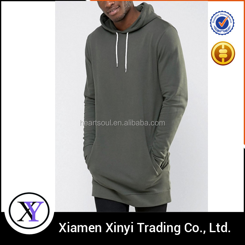 China Supplier OEM wholesale custom design 100% cotton tall hoodie pullover long hoodie