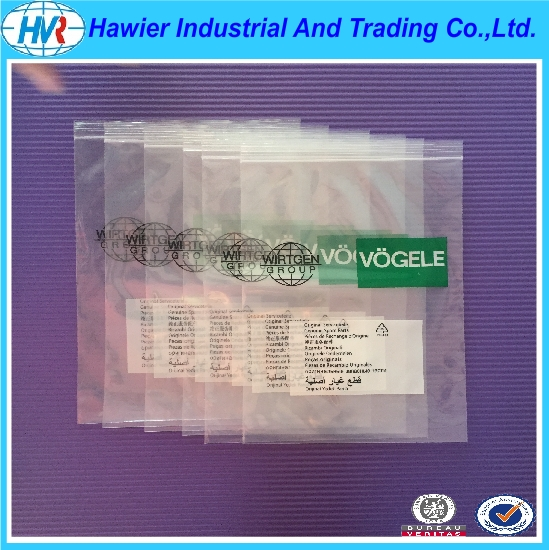 Custom print reclosable poly zip lock bag from Hawier
