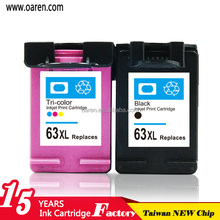 New remanufactured ink cartridges for hp 63 used for hp63 2130 hp3630 4520 4620