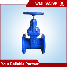 Cast Iron Non Rising Stem Resilient Seated Rubber Soft Seal Flange Gate Valve Z45X Z945X