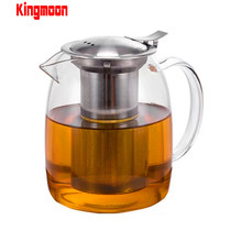 New design teapot wholesale borosilicate heat resistant clear glass teapot with stainless steel strainer