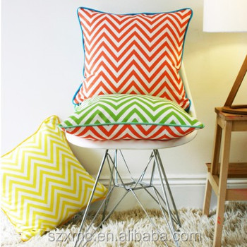 High quality cotton sofa pillow home decor chevron cushion cover