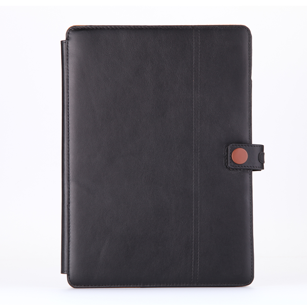 Genuine Leather Case for ipad pro 10.5 case Card Slots Pencil Holder Hand Strap Folio Case with Secure Closure & Multi Stands