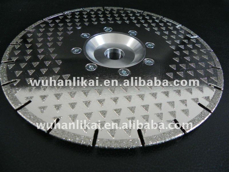 diamond electroplated circular saw blade for cutting stone