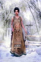 sleeveless sull Embrodered shirt with lenga bridal dress BE-M111