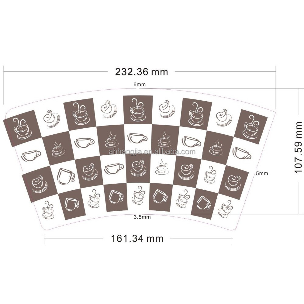 Wholesale waterproof printed wax paper sheet with logo