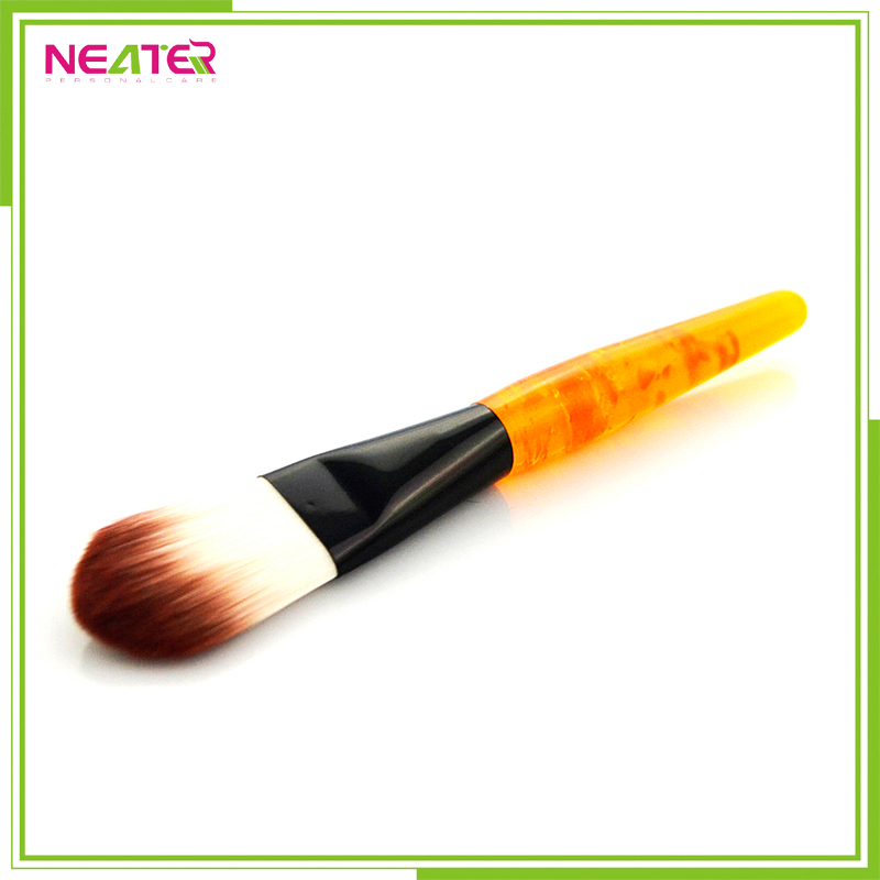 makeup kits plastic handle with soft hair cosmeitc mak up brush set