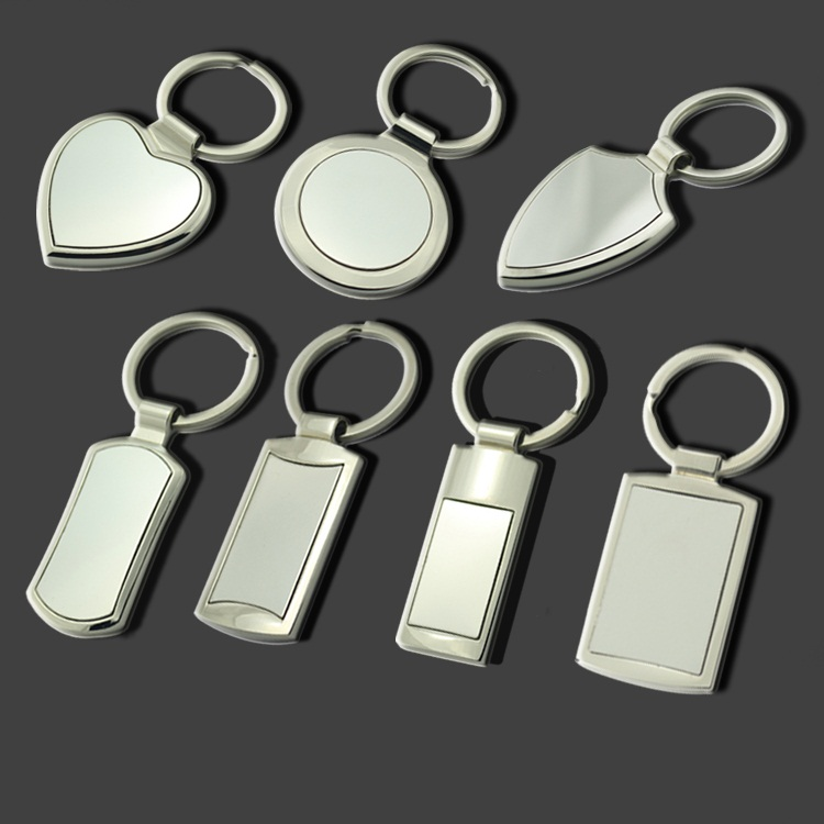 wholesale chrome plated blank metal key chain