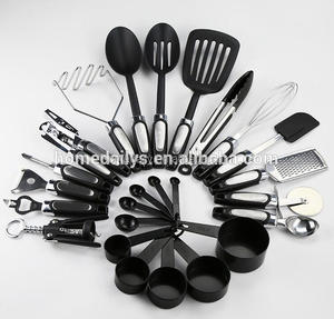 25 Piece Stainless Steel and Nylon Kitchen Utensils Set Cooking Tools Gadgets