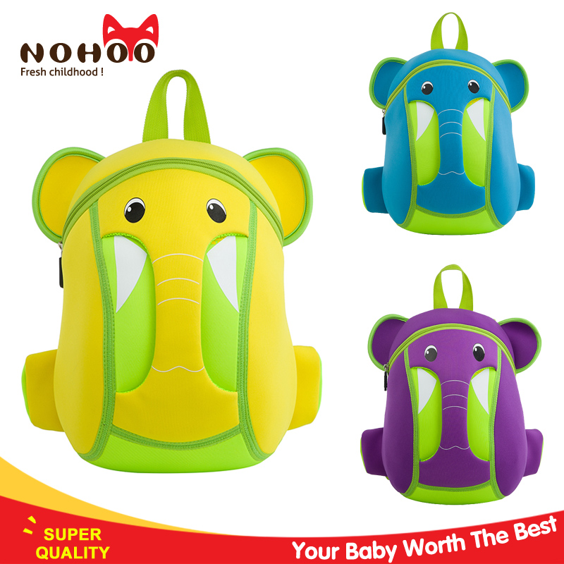 NOHOO brand Cute kids neoprene backpack elephant style child school bag